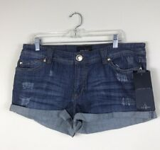 """NEW! Baby Phat """"Sultry Nomad"""" Stretch Denim Shorts, Junior Size 15 Inseam 2.5"""""""