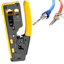 EZ RJ45 Cat7 Cat6 Cat5 RJ11 Network Crimper Crimping Tool Cable Cutter Stripper