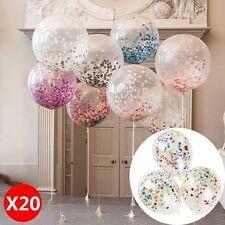 "20X 12"" Confetti Latex Balloons Wedding Birthday Party Baby Shower Decoration L"