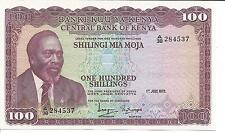 KENYA 100 SHILLINGS 1972  P 10  UNC GEM. VERY RARE