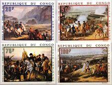 KONGO BRAZZAVILLE 1969 173-76 U C78-81 200 Geb. Napoleon Paintings Gemälde MNH