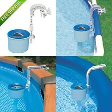 Above Ground Pool Floating Skimmer Cleaner Wall Mount Surface Small Intex Deluxe
