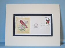 State Bird & Flower of Illinois- Cardinal & Violet & First Day Cover