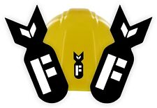 (2) F BOMB Funny Hard Hat Stickers | Welding Helmet Decals | Motorcycle Toolbox