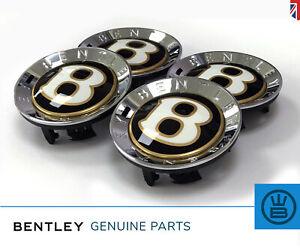 BENTLEY centenary center caps black gold 100 years anniversary spur mulsanne GT