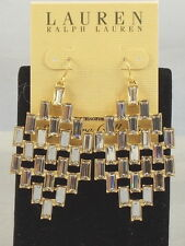 Ralph Lauren SIGNATURE COLLECTION Swarovski Crystal Baguette Chandelier Earrings