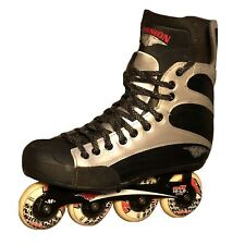 Mission Helium 200 Hockey Inline Skates Black Red Roller Blades Mens Size 11