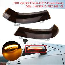 2x Led Dynamic Mirror Indicator Turn Signal Light For VW Golf GTI 5 Jetta Passat