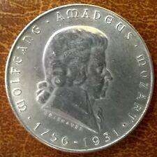2 Schilling 1931 Wolfgang Amadeus Mozart Silber Gratisversand  A ----Eiamaya