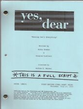 """YES, DEAR show script """"Weaning Isn't Everything"""""""