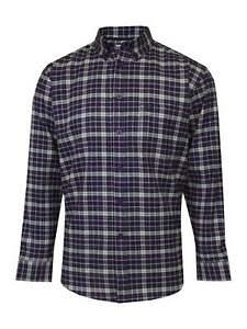 James Pringle Mens Dark Purple Long Sleeve Check Shirt [2078164PR3S] Size S