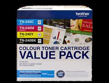 12 Genuine Brother Toners TN-240BK TN-240C TN-240Y TN-240M 3x TN-240CL4PK HL3045