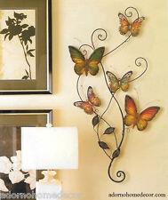Metal Butterfly Wall Decor Art Garden Cottage Unique Indoor Outdoor Patio Decor
