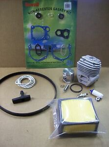 Husqvarna K760 Version 1 Cutoff Saw Rebuild Kit w/ cylinder, piston, gaskets