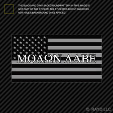 "4"" Subdued Molon Labe American Flag Sticker Decal Self Adhesive 2A United"