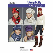 Simplicity SEWING PATTERN 8036 Misses Hats,Headband,Scarves,Boot Toppers
