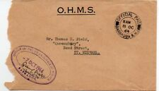 Barbados 1964 OHMS cover Official Paid cxl + Commissioner of Police cachet