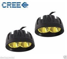 1 Pair 40WATTS Car / Bike Led Auxiliary Cree LED Fog Lamp Yellow Light Bar Spot