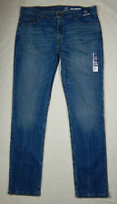 NEW George Slim Straight Leg Mens Blue Denim Jeans Pants 38 x 34