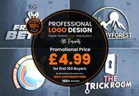 Professional bespoke Logo Design  + Unlimited Concepts & Revisions + Artwork