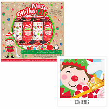 6 Pack Novelty Game Christmas Crackers - Stick Nose on Elf