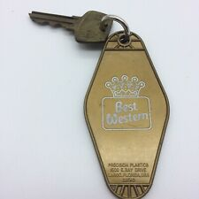 Vintage Best Western Gold Plastic Room Key 317 I 80 Airport Exit Lincoln NE