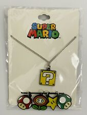 Nintendo Super Mario Necklace Set 5 Charms Included. New
