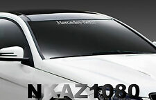 Mercedes Benz windshield Vinyl Decal Sport Racing sticker emblem logo WHITE