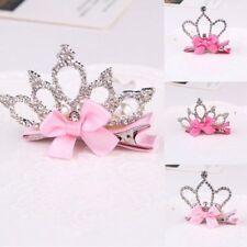 Baby Kids Girls Rhinestone Bowknot Crown Hair Clip Hair Pin Hair Accessories New