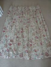 """LAURA ASHLEY CURTAINS PINCH PLEAT BEIGE WITH FLORAL PATTERN 39 1/2"""" WIDE EACH"""