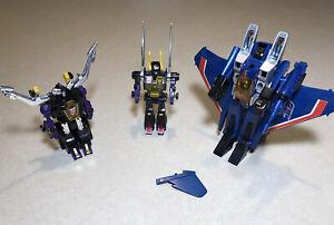 Transformers G1 Deceptions Thundercracker, Kickback & Shrapnel. Original Takara