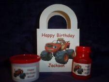 Blaze & the Monster Machines Birthday Party set of 8 favor box-bubbles-dough