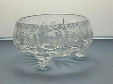 LEAD CRYSTAL CUT GLASS SERVING FOOTED BOWL