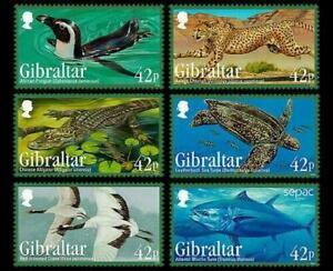 Gibraltar 2013 - Endangered Animals 3rd Series - Set of 6 - MNH