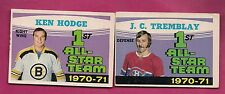 1971-72 OPC CANADIENS TREMBLAY AS + BRUINS HODGE AS  CARD (INV# A1844)