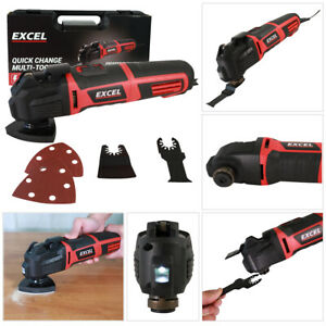 Excel Electric Oscillating Multi Tool Quick Release Blade 330W 230V with Case