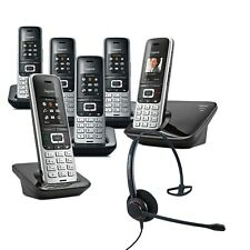 Cordless Phone Gigaset S850A 6 Handsets w Answer Machine and Corded Headset  DEC