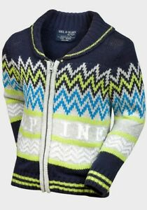 Boys Cardigan Knitwear Jumper With Zip Brand New Multiple Sizes Winter Top