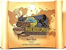 Hard Rock Cafe Philadelphia 3D World Map Series 2017 HRC PA Pin LE New # 95451