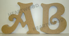VICTORIAN LETTERS IN MDF (150mm x 18mm thick)/WOODEN CRAFT SHAPE/DECORATION
