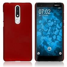 Funda de silicona  Nokia 3.1 Plus goma - rojo Cover