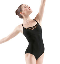 NWT Mirella M4007LM Black Small Adult Knot bead front camisole low back
