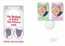 (17674) Cayman Islands FDC Princess Anne Wedding 14 November 1973