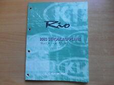 Werkstatthandbuch Schaltpläne Stromlaufpläne KIA Rio Modelljahr 2003