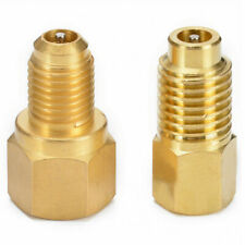 R134 To R12 & R12 To R134a Brass Heavy Duty Tank Vacuum Pump Adapter Tool Set