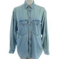 Wit Boy M Medium Chambray Denim Shirt Top Long Sleeve Womens ITALY