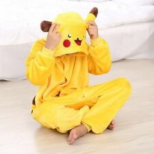 Kids Boys Girls Pikachu Pajamas Anime Cosplay Costume Dress Sleepwear HOT