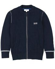 HUGO BOSS Boys Zip Front Knit Cardigan, Sizes 6-16