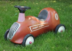 Radio Flyer Ride-On Race Car, Steel Construction, Excellent Condition