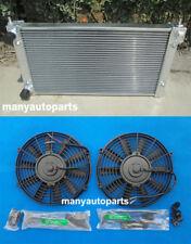 2 Core Aluminum Radiator & 2x fans for VW GOLF MK1 MK2 GTI/SCIROCCO 1.6 1.8 8V